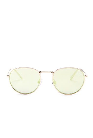 Ochelari Femei Betsey Johnson Womens Round Sunglasses GOLD YELLOW