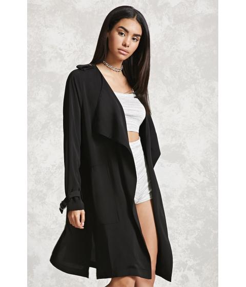 Imbracaminte Femei Forever21 Drape-Front Coat Black