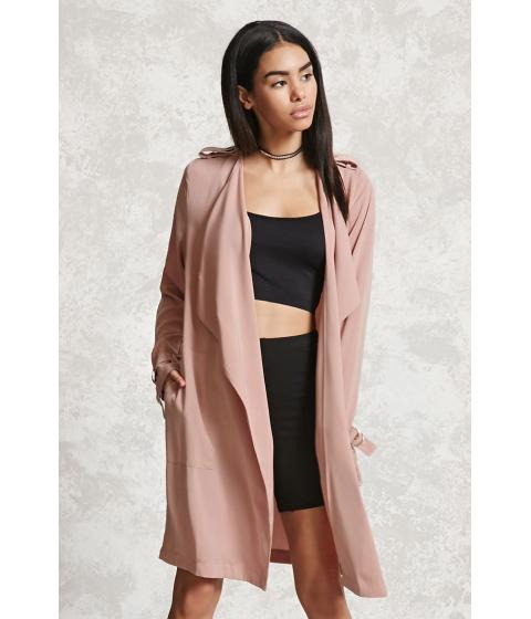Imbracaminte Femei Forever21 Drape-Front Coat Pink