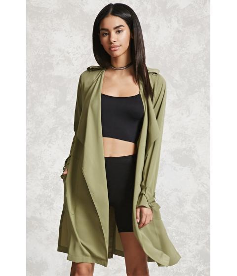 Imbracaminte Femei Forever21 Drape-Front Coat Olive