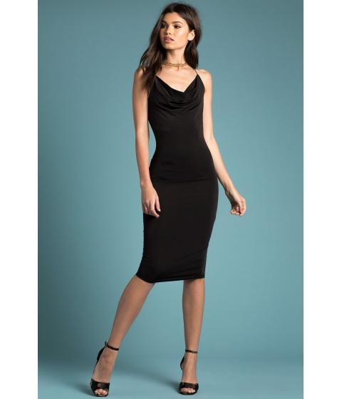 Imbracaminte Femei CheapChic Silky Cowl Slip Dress Black