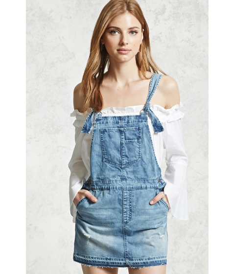 Imbracaminte Femei Forever21 Denim Overall Dress Medium denim