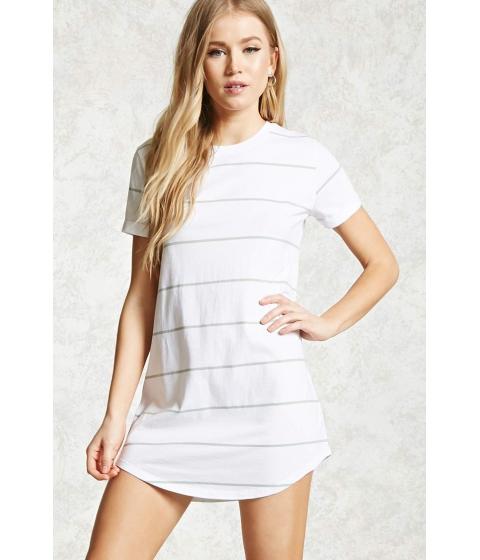 Imbracaminte Femei Forever21 Striped Mini T-Shirt Dress Whiteseafoam