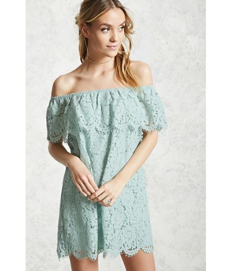 Imbracaminte Femei Forever21 Crochet Off-the-Shoulder Dress Sage