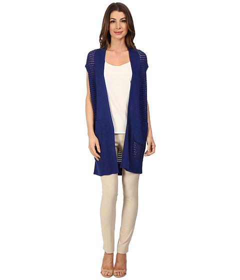 Imbracaminte Femei NICZOE Open Stitched Vest Blue Roma