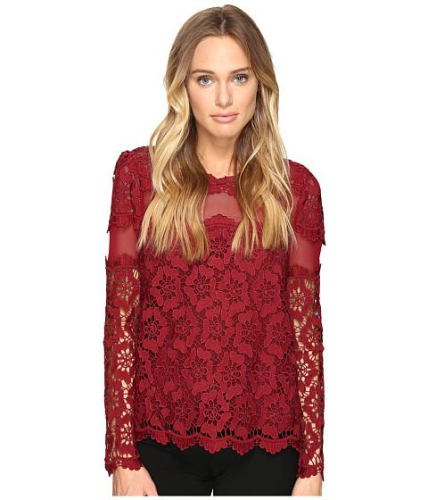 Imbracaminte Femei Romeo Juliet Couture Long Sleeve Lace Top Burgundy