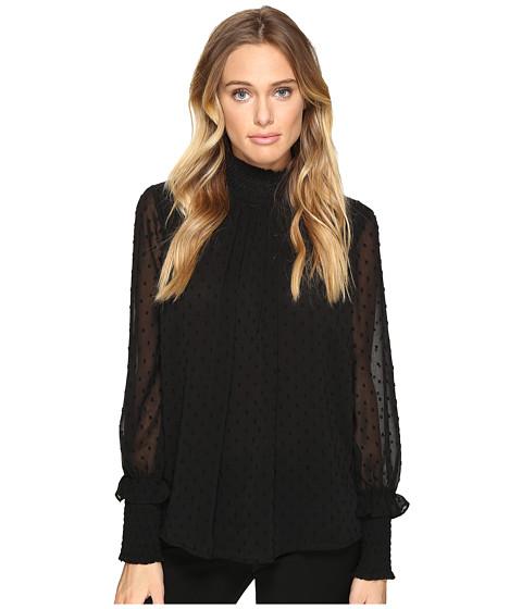 Imbracaminte Femei Romeo Juliet Couture Textured Sheer Blouse Black