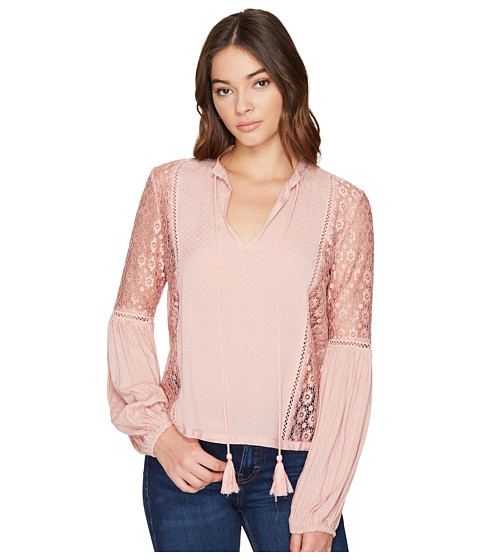 Imbracaminte Femei Romeo Juliet Couture Lace Trim on Side Bodies Top Dusty Pink