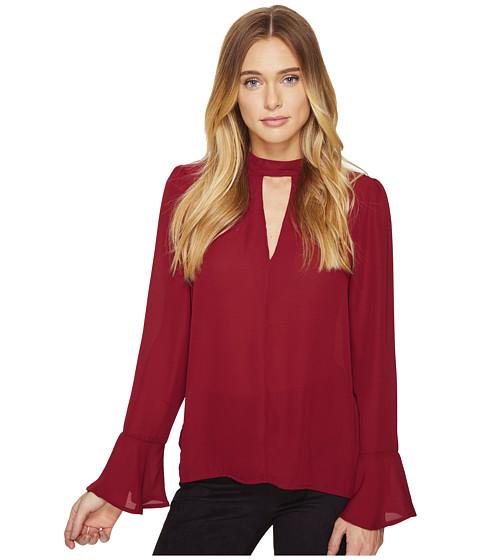 Imbracaminte Femei Romeo Juliet Couture Long Sleeve V-Neck Top Wine