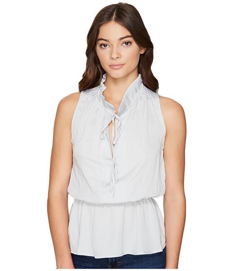 Imbracaminte Femei Romeo Juliet Couture Ruffle Neck Woven Top Light Grey