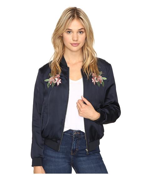 Imbracaminte Femei Romeo Juliet Couture Satin Bomber Jacket Navy