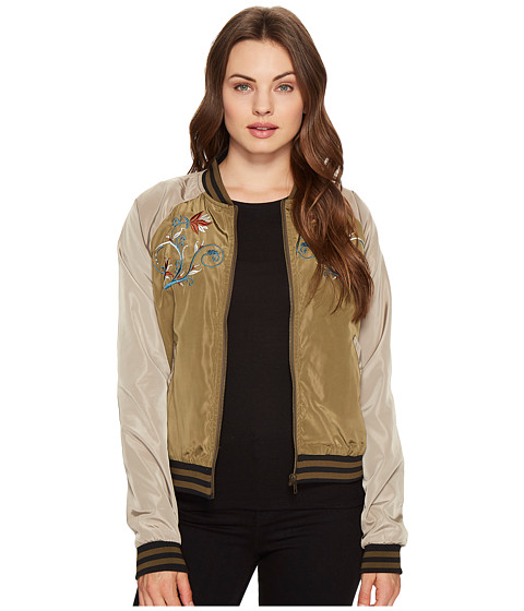 Imbracaminte Femei Romeo Juliet Couture Embroidered Varsity Jacket Olive