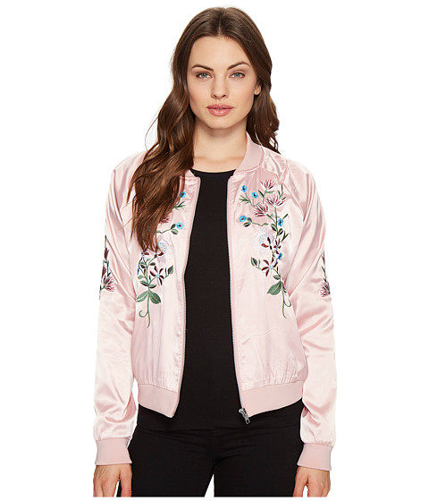Imbracaminte Femei Romeo Juliet Couture Flower Embroidered Varsity Jacket Dusty Pink