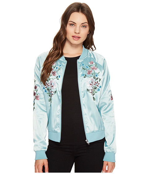 Imbracaminte Femei Romeo Juliet Couture Flower Embroidered Varsity Jacket Mint