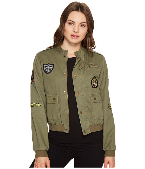 Imbracaminte Femei Romeo Juliet Couture Button up Jacket with Patches Olive
