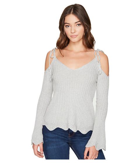 Imbracaminte Femei Romeo Juliet Couture Cold Shoulder Strap Top Heather Grey