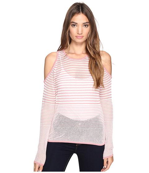 Imbracaminte Femei Romeo Juliet Couture Long Sleeve Cold Shoulder Stripe Top Blush