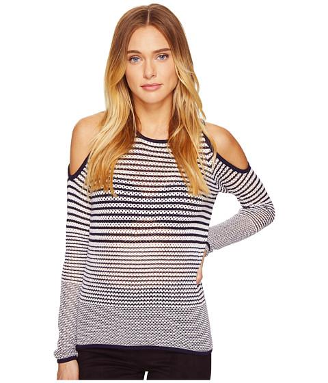 Imbracaminte Femei Romeo Juliet Couture Long Sleeve Cold Shoulder Stripe Top Navy