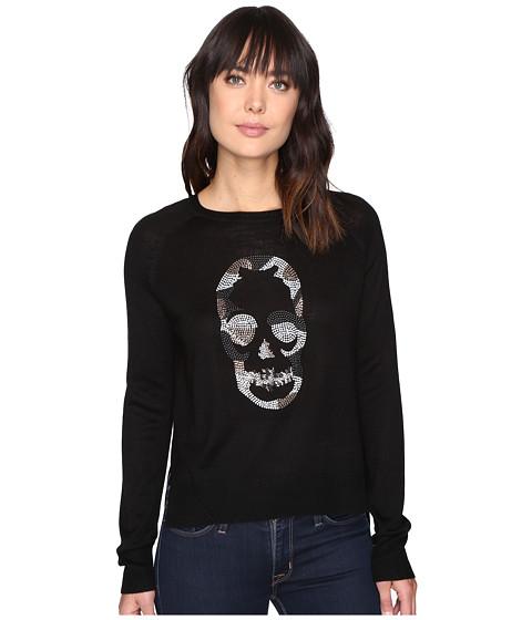 Imbracaminte Femei Romeo Juliet Couture Long Sleeve Knit Nailhead Shirt Black