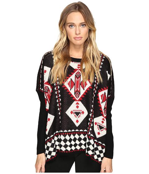 Imbracaminte Femei Romeo Juliet Couture Geometric Print Knit Sweater Black
