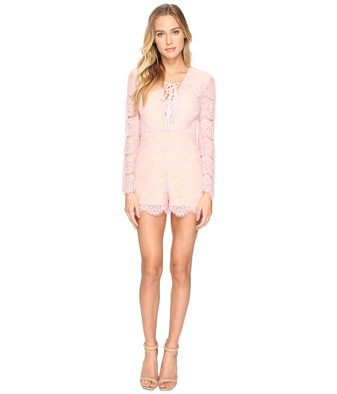 Imbracaminte Femei Romeo Juliet Couture Long Sleeve Lace-Up All Over Romper Dusty Pink