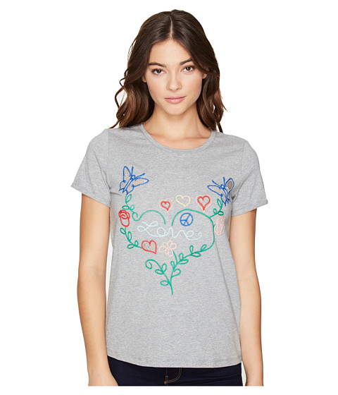 Imbracaminte Femei Romeo Juliet Couture Knitted Multicolor Embroidered Love Top Heather Grey