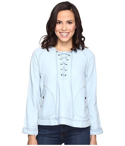 Imbracaminte Femei Romeo Juliet Couture Long Sleeve Short Hooded Jacket Light Blue