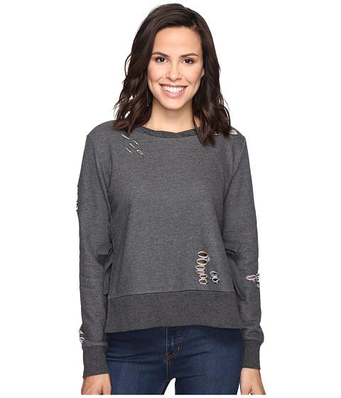 Imbracaminte Femei Romeo Juliet Couture Long Sleeve French Terry Knit Sweatshirt Charcoal