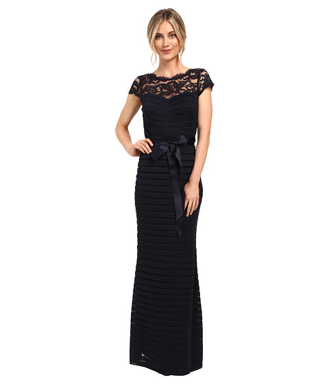 Imbracaminte Femei Adrianna Papell Large Tucked Stretch Tulle Gown Ink