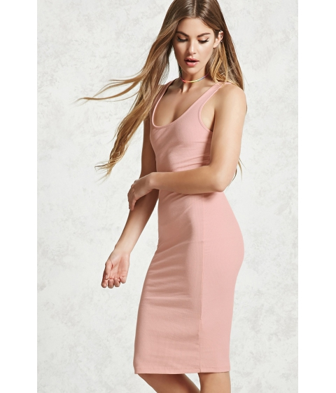 Imbracaminte Femei Forever21 Ribbed Bodycon Dress Dusty pink