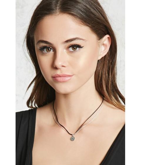 Bijuterii Femei Forever21 Layered Pendant Necklace Blacksilver