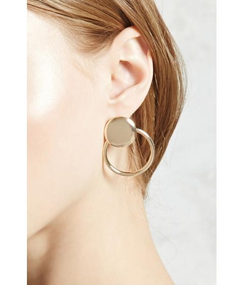 Bijuterii Femei Forever21 Circle Cutout Ear Jackets Gold