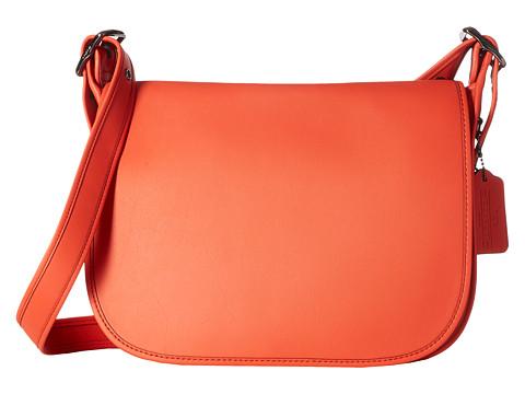 Genti Femei COACH Glovetanned Leather Saddle Bag DKDeep Coral