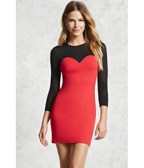 Imbracaminte Femei Forever21 Illusion Neckline Mini Dress Red