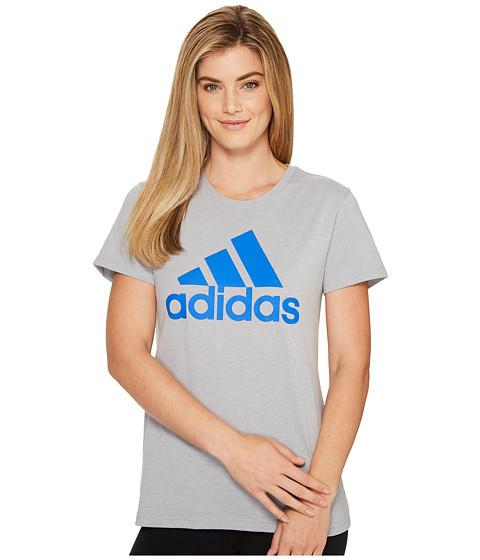 Imbracaminte Femei adidas Badge Of Sport Logo Tee Medium Grey HeatherBlue
