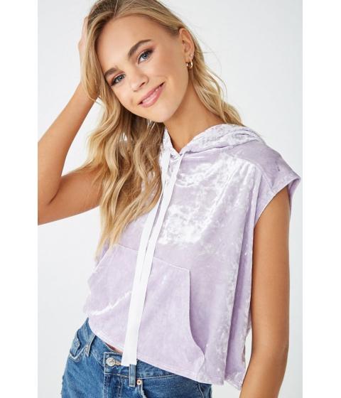 Imbracaminte Femei Forever21 Velvet Sleeveless Hoodie Lavender
