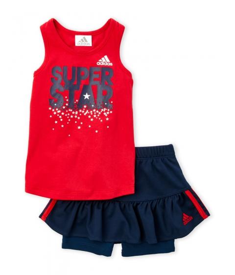 Imbracaminte Fete adidas (NewbornInfant Girls) Two-Piece Red Super Star Tank Navy Skort Set Red