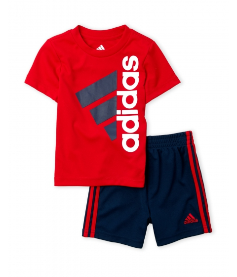 Imbracaminte Baieti adidas (Infant Boys) Two-Piece Patriotic Tee Short Set Red Blue