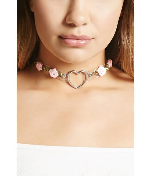 Bijuterii Femei Forever21 Heart Ring Rose Choker Silverclear