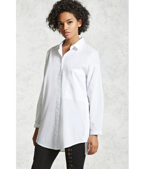 Imbracaminte Femei Forever21 Oversized Button-Up Shirt White