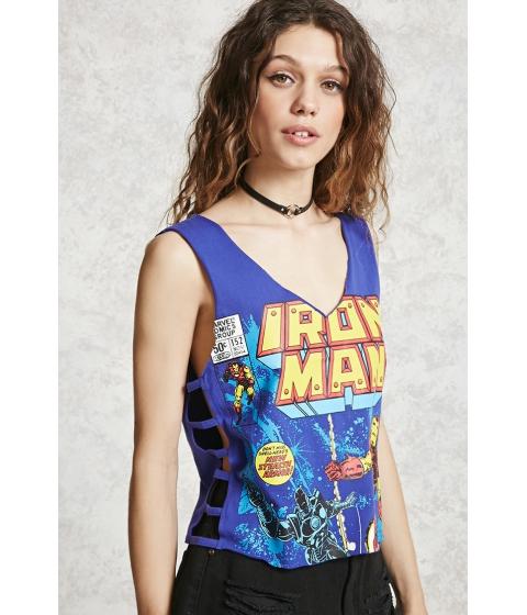 Imbracaminte Femei Forever21 Iron Man Graphic Tank Top Blueyellow