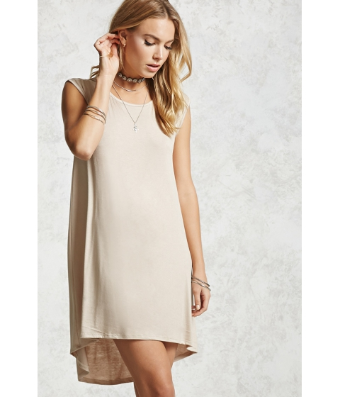 Imbracaminte Femei Forever21 High-Low Jersey Dress Tan