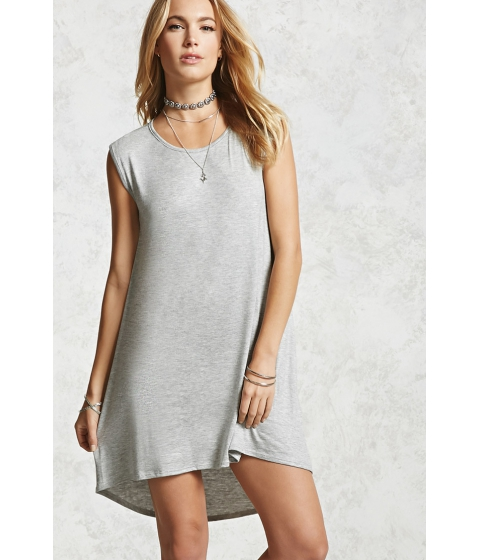 Imbracaminte Femei Forever21 High-Low Jersey Dress Heather grey