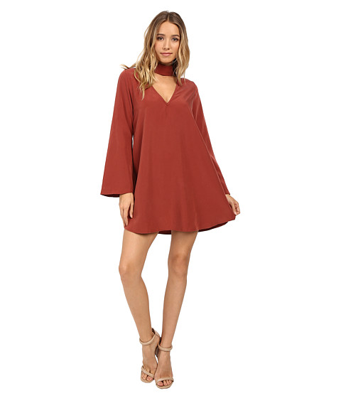 Imbracaminte Femei Brigitte Bailey Leta Long Sleeve Keyhole Dress Rust