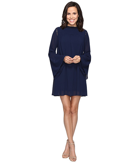 Imbracaminte Femei Brigitte Bailey Blakely Bell Sleeve Mock Neck Dress Navy