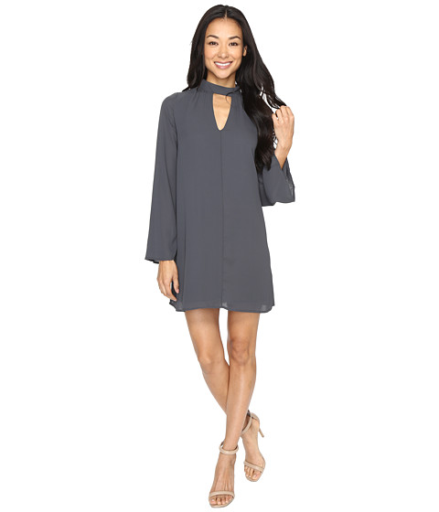 Imbracaminte Femei Brigitte Bailey Karoline 34 Sleeve Shift Dress with Keyhole Charcoal