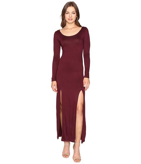 Imbracaminte Femei Culture Phit Gali Long Sleeve Maxi Dress with Slits Wine
