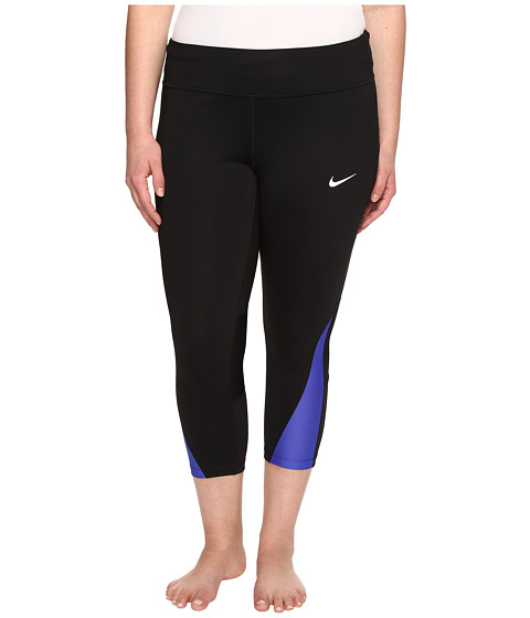 Imbracaminte Femei Nike Power Running Crop (Sizes 1X-3X) BlackParamount Blue