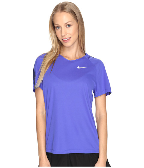 Imbracaminte Femei Nike Dry Short Sleeve Soccer Top Paramount BlueBinary BlueWhite