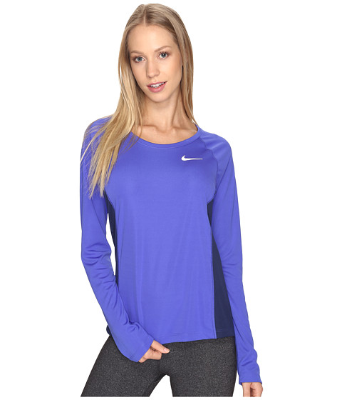 Imbracaminte Femei Nike Dry Miler Long Sleeve Running Top Paramount BlueBinary Blue